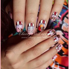 Instagram Cherry Nail Art, Snail Art, Candy, Instagram Posts, Sweets, Candy Bars, Chocolates