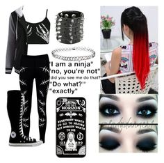 """""""Sporty Punk"""" by thedaysareadeathwish ❤ liked on Polyvore featuring Boohoo, Converse and Miss Selfridge"""