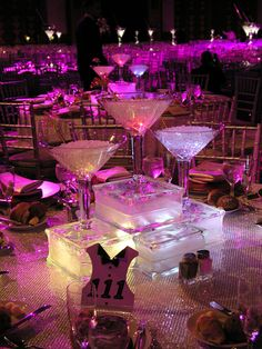 Martini Gl Centerpiece S I Like The Block Looks Ice Blocks Carolyn Zakryk Elegant Details Oversized And Wine Centerpieces