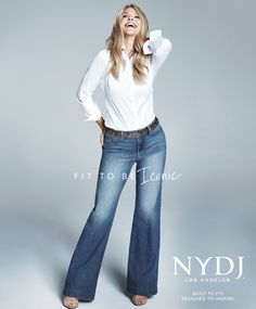 NYDJ Campaign Star Christie Brinkley Opens Up About Her Hunt for the Perfect Pair of Jeans from InStyle.com