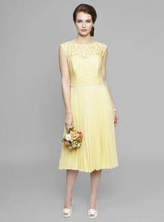 Lemon Louisa Lace Pleat Bridesmaids Dress