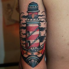 +++ STA.DEMONIA TATTOO BARCELONA FERNANDO+++ Lighthouse by @fernando_morano! www.stademonia.com #StaDemonia #Tattoo #Barcelona #Fernando #OldSchool #Tradicional #LightHouse #Faro #SailorTattoo