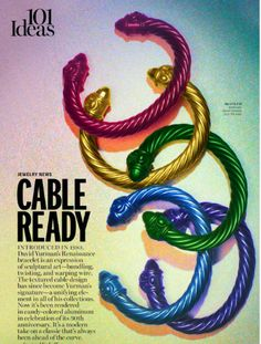 David Yurman's New Colored bracelet collection - Accessories Editorial by Kyle Anderson - Jan. Marie Claire