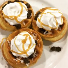Breakfast on the road as only a teenager can prepare and enjoy. Not that she has a sweet tooth or anything. #breakfast #sugar #waffle #chocolate #coconut #caramel #whippedcream #travel #foodie #mom
