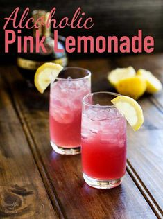 Alcoholic Pink Lemonade with sweet and sour notes this cocktail will quickly become a firm favourite. Delicious refreshing and so pretty! Lemonade Cocktail, Pink Lemonade, Cocktail Drinks, Alcoholic Drinks, Beverages, Fun Drinks, Sweet Cocktails, Best Cocktail Recipes, Summer Cocktails