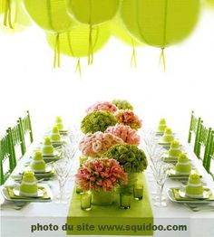 GREEN WEDDING TABLESCAPES