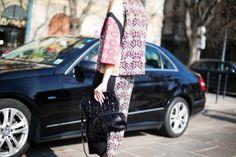 Moda en la calle en la Semana de la Moda de Milán febrero 2014 © Josefina Andrés