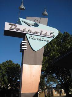 Detroit Clothing Sign - Williamstown, Victoria, Australia #googie
