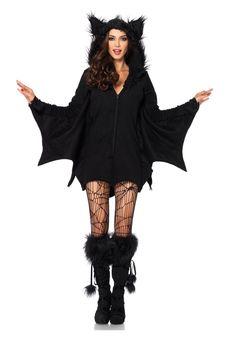 Amazon.com: Plus Size Cozy Bat Adult Costume: Clothing