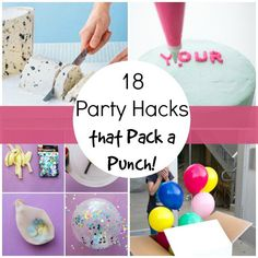 We love throwing a good party, but dang…they can be a lot of work! Here are some amazing party hacks that will make your next party a breeze! Check out the 18 best party hacks that really pack a punch! 18 Party Hacks That Pack a Punch! 1. DIY edible glitter Gorgeous and yummy. Sprinkle …
