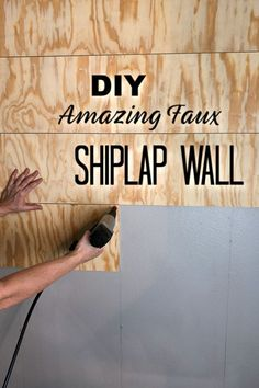 How To Create An Amazing Faux Shiplap Wall is part of diy-home-decor - Adding a faux shiplap wall to a small area adds tons of character and it's not as hard as you may think I'll show you how! Stained Shiplap, Faux Shiplap, Shiplap Diy, Home Crafts, Diy Home Decor, Architecture Renovation, Attic Renovation, Think, Ship Lap Walls