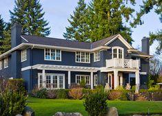 √ Best Exterior Paint Color Ideas for Your House Best Exterior Paint, Exterior Paint Colors For House, Paint Colors For Home, Exterior Colors, Exterior Design, Paint Colours, White Exterior Houses, Rustic Exterior, Front Door Paint Colors