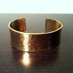 SOLD!!! Vintage Hammered Copper Cuff by Sfuso on Etsy, $15.00
