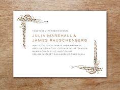 Vine Wedding Invitation Template