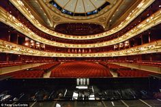 Royal Opera House auditorium (seen from the stage), Covent Garden, London UK