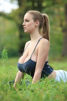 HUGE Yoga Girl Boobs!