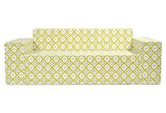 Moroccan Outdoor Sofa, Chartreuse on OneKingsLane.com - I think I like this better than the orange one.