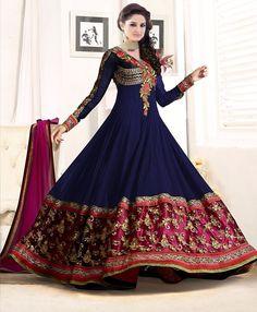 Anarkali Suit Ind Pak Bollywood Dress Designer Ethnic Wedding Salwar Kameez 177