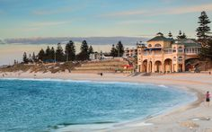 Cottesloe Beach in Perth at dusk. Cottesloe beach where the population of Perth , Places To Travel, Travel Destinations, Places To Visit, Australia Destinations, Western Australia, Australia Travel, Perth Australia, Australia Photos, Lonely Planet