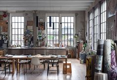 <p>Built in 1926 and located close to Lake Como, in northern Italy. This gorgeous 270 square meters loft was kept in its original form and holds many of its owner own artwork. Architect and artist Mar