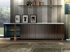 Lacquered sideboard with doors APOTEMA   Sideboard - Esedra by Prospettive