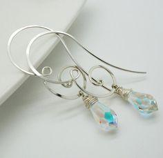 Swarovski earrings Handmade earrings by atelierblaauw