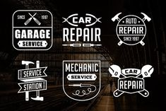 Vintage Mechanic Logo & Badge  by Tosca Digital on @creativemarket