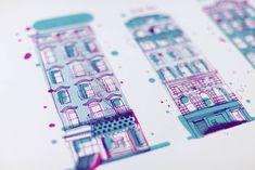 NY buildings silkscreen