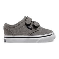 The Grindle Atwood V, a classic low top with textile upper, features a double hook and loop closure on a vulcanized signature rubber outsole. Cute Baby Shoes, Baby Boy Shoes, Toddler Shoes, Baby Boy Outfits, Toddler Boy Fashion, Little Boy Fashion, Stylish Baby Clothes, Velcro Shoes, Popular Shoes