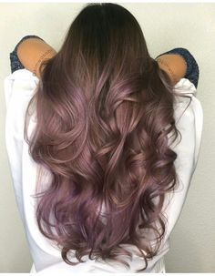 50 Purple Hair Color Ideas for Brunettes You Will Love in Purple hair color ideas for brunettes is in, ladies! When work comes to hair color ideas which can truly flatter any skin tone, purple hair colors are. Lilac Hair, Hair Color Purple, Hair Color And Cut, Hair Colors, Purple Tinted Hair, Brown Hair With Purple Highlights, Purple Brown Hair, Violet Highlights, Balayage Hair Purple