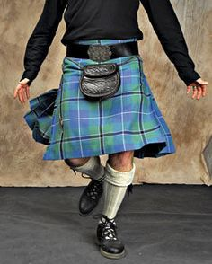 Kilt with accessories