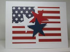 By Kelly H at Splitcoaststampers. Flag from designer paper, just cut into rectangles. Easy, but looks great!