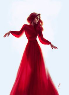 Red Dress by sarucatepes.deviantart.com on @DeviantArt