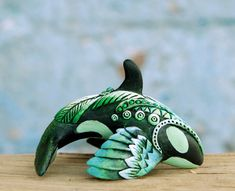 Winged Orca by nicsadika on DeviantArt Polymer Clay Figures, Cute Polymer Clay, Cute Clay, Polymer Clay Crafts, Polymer Clay Jewelry, Art Bin, Sculpture Art, Sculptures, Clay Miniatures