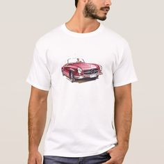 Red #Mercedes #benz #sl300  cabriolet #oldtimer #car T-Shirt