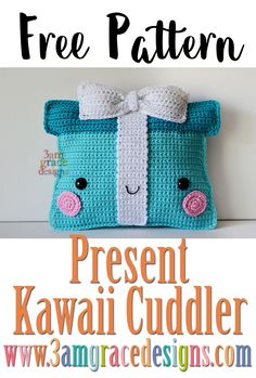 Christmas Present ragdoll rag doll amigurumi crochet pattern christmas