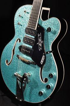 Gretsch USA Custom Shop G6120CST Turquoise Sparkle 3 Pickup Guitar | eBay