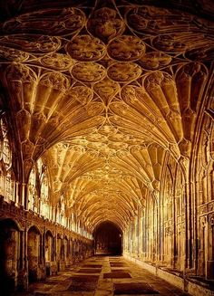 Corniced hallway