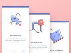 @MaterialUp : Cloud Apps Backup Onboarding Illustration by @ghanipradita via…