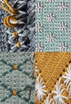 Handwerkpatronen en workshops met liefde voor Scandinavië. Crochet Stitches, Knit Crochet, Crochet Patterns, Crochet Ideas, Handicraft, Decorative Items, Needlework, Tapestry, Embroidery