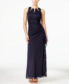 B&A by Betsy and Adam Embellished Keyhole Ruched Gown $119.00 Jewel embellishments lend a hint of pizzazz to Betsy & Adam's gorgeous gown. It's perfect for wedding-day style.