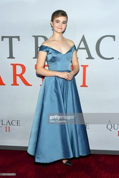 """News Photo : Millicent Simmonds attends the """"A Quiet Place. Jazz At Lincoln Center, Glamorous Dresses, Celebrity Look, Red Carpet Dresses, Red Carpet Looks, Glamour, Night, Formal Dresses, News"""