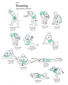 Cool down after running