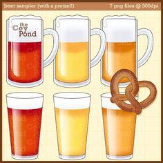 Beer Clip Art  clipart beer pilsner amber pale ale by TheCoyPond