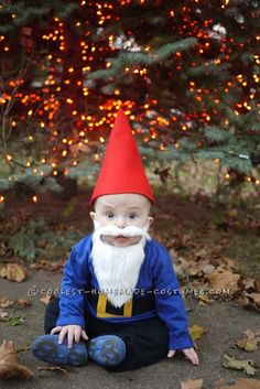 Cutest Baby Gnome Costume... This website is the Pinterest of costumes