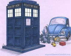 Stitch meets a challenge. A bug and a TARDIS and Stitch= heaven. amymebberson.tumblr.com