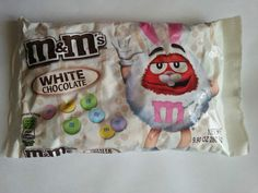 M Ms White Chocolate Five oz Bag Limited Edition Easter Spring M & Ms White Chocolate M&ms, Chocolate Heaven, Like Chocolate, Chocolate Lovers, Resurrection Day, M M Candy, Snack Items, Dumpster Diving, I Love America