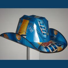 Genius lol love my Miller Cowboy Up, Cowboy Hats, Beer Box Hat, Ultimate Man Cave, Miller Lite, Light Of Life, Hat Making, Birthday Bash, Country Girls