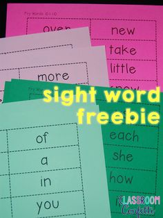 6 Ways to Use Sight Word Flash Cards - Classroom Confetti plus FREE sight word… Fry Sight Words, Teaching Sight Words, First Grade Sight Words, Sight Word Practice, Sight Word Games, Sight Word Activities, Second Grade, Dictionary Skills, Read To Self