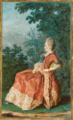 Madame du Dreneuc, Carrogis Louis Carmontelle (1717-1806)